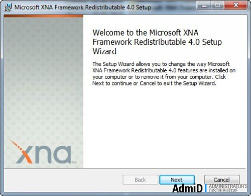 Microsoft XNA Framework Redistributable 4.0 EN + архив версий