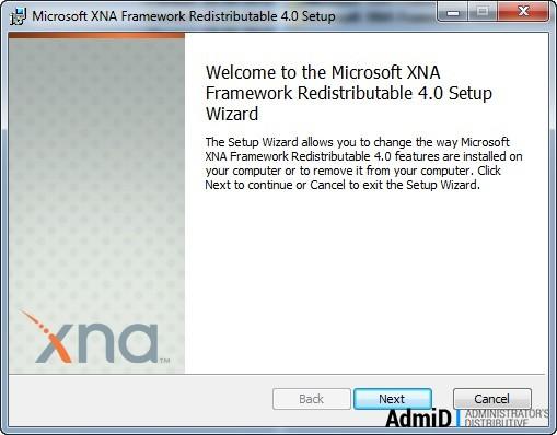 Xna Framework 4.0 скачать для Windows 7 - фото 3