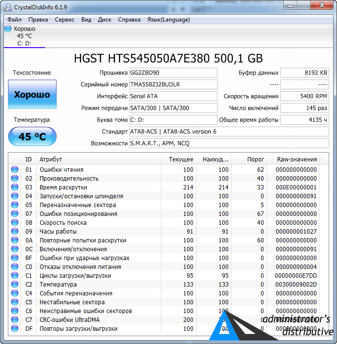 CrystalDiskInfo 7.0.5 RU final + Portable