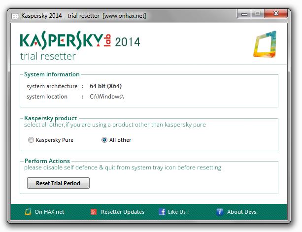 Бесплатно скачать антивирус касперский trial kaspersky